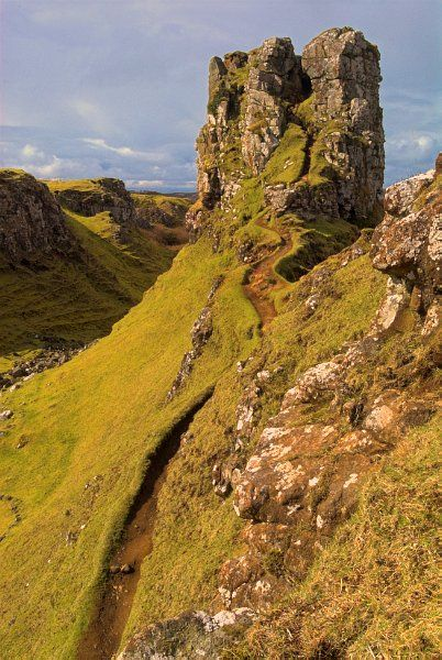 Geez, sometimes our 'walks' are like steep hikes. this is just like 'Fairy Glen' on the Isle of Skye..............