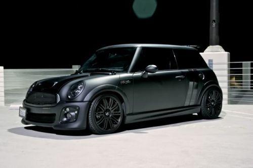 flat black Mini Cooper S