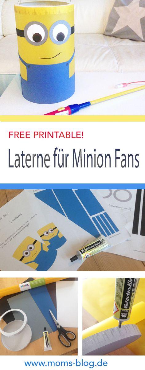 Bastelanleitung für eine super einfache Laterne für kleine Minion Fans - inkl. gratis Druckvorlage! :-) http://www.moms-blog.de/minion-laterne-anleitung/ #freeprintable #minions #lantern