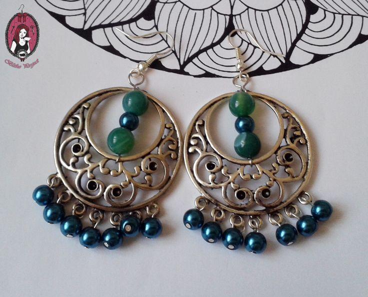 Green Agate Oriental Earrings  My website: http://blitheproject.hu/ Facebook: https://www.facebook.com/blitheproject
