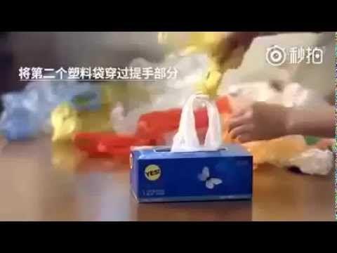 Storing plastic bags !!! - YouTube
