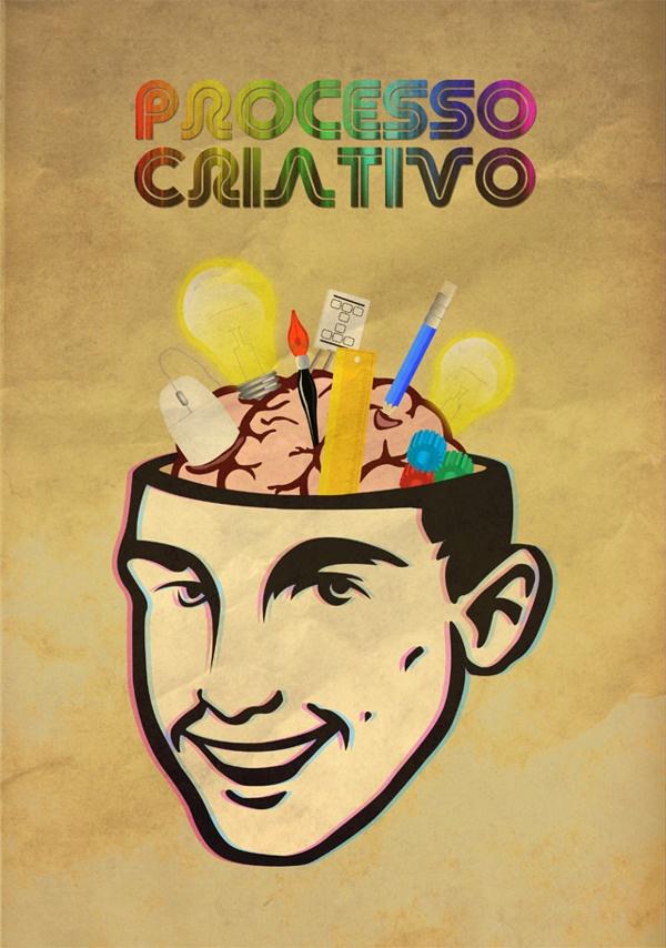 Processo Criativo by Claudio Coutinho, via Behance