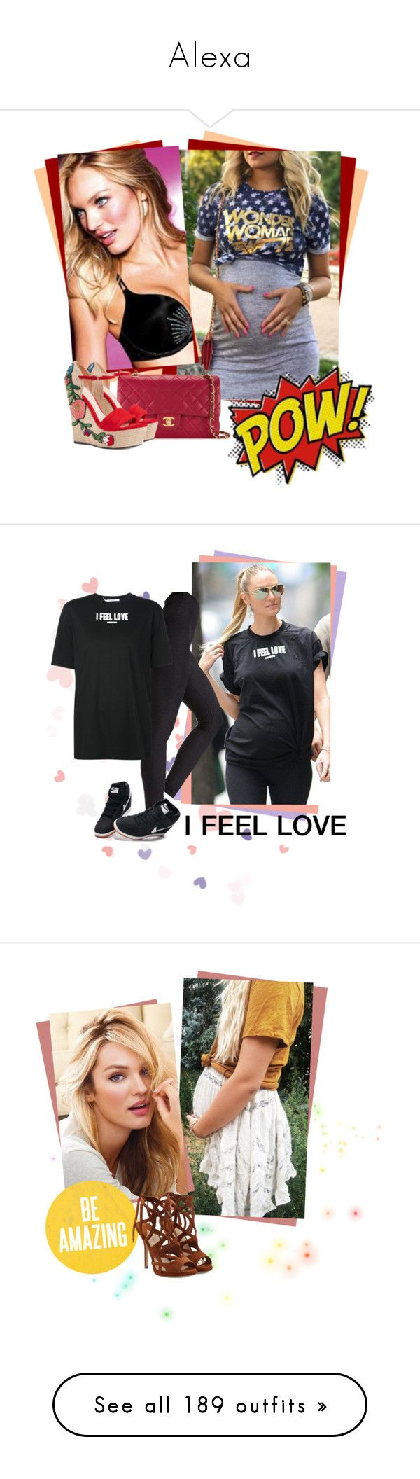 """""""Alexa"""" by krisbie ❤ liked on Polyvore featuring Chanel, Gucci, Victoria's Secret, Givenchy, NIKE, Paul Andrew, Christian Dior, Jimmy Choo, Aquazzura and Christian Louboutin"""