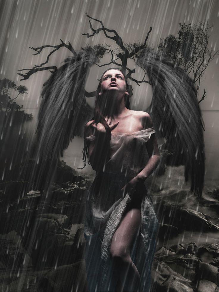 Dark angel. Gothic Art.   Absolutely love this!!!