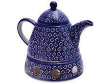 Bunzlauer Keramik Kaffeekanne,Teekanne mit Stövchen Vol 1,0L
