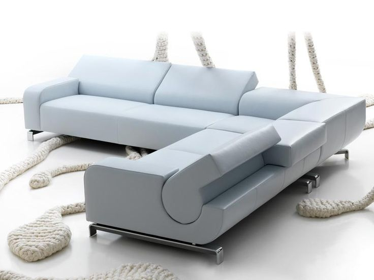Anbausofa aus Leder B FLAT Kollektion Sculptures by LEOLUX | Design Andreas Berlin