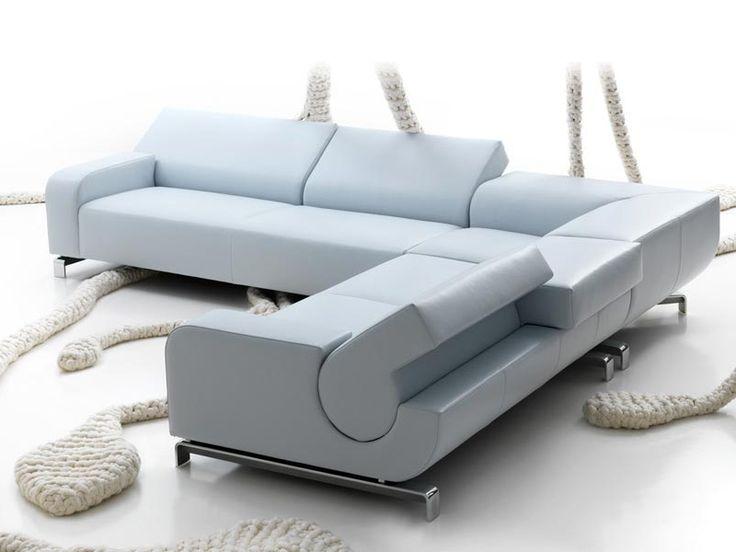 Anbausofa aus Leder B FLAT Kollektion Sculptures by LEOLUX | Design Andreas Berlin
