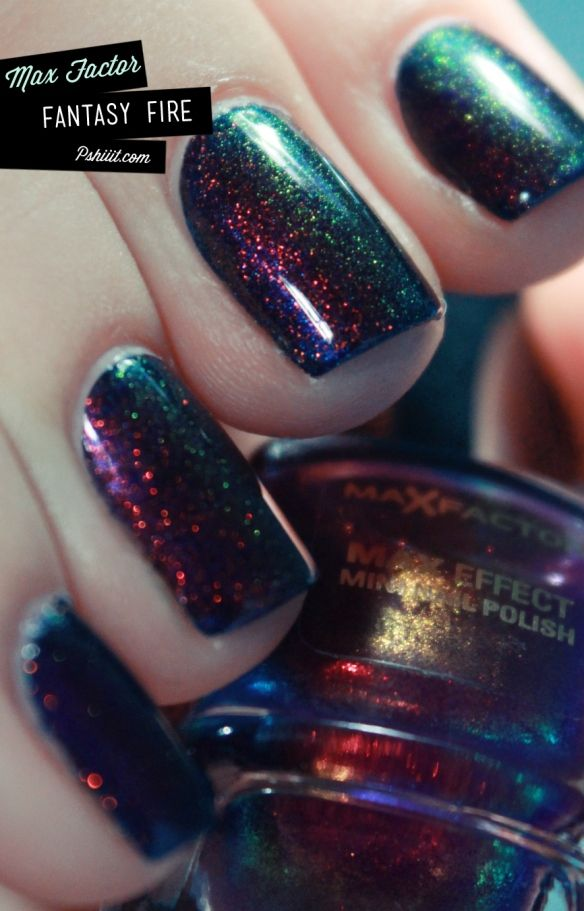 Max Factor. I think I just fell in love!!!!Nails Art, Max Factor, Nailpolish, Sparkle Nails, Maxfactor, Nails Polish, Factor Fantasy, Galaxies Nails, Fantasy Fire