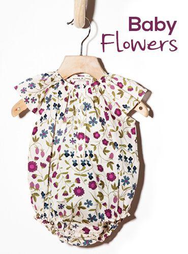 Woopeye baby flower romper babe&tess #babeandtess online shop kidswear liberty  http://www.woopeye.com/shop-213-body-neonato-in-tessuto-liberty-a-fiori.html