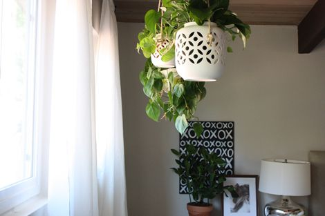 Hanging Planters In The Bedroom Window Garden
