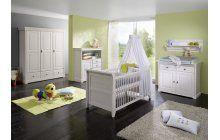 Dětský pokojík pro miminko z bílé borovice.