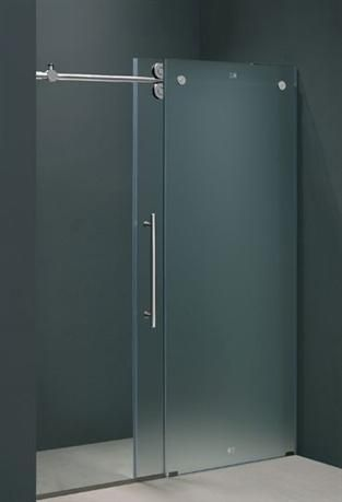 60 in. Frameless Shower Door in Frosted Glass