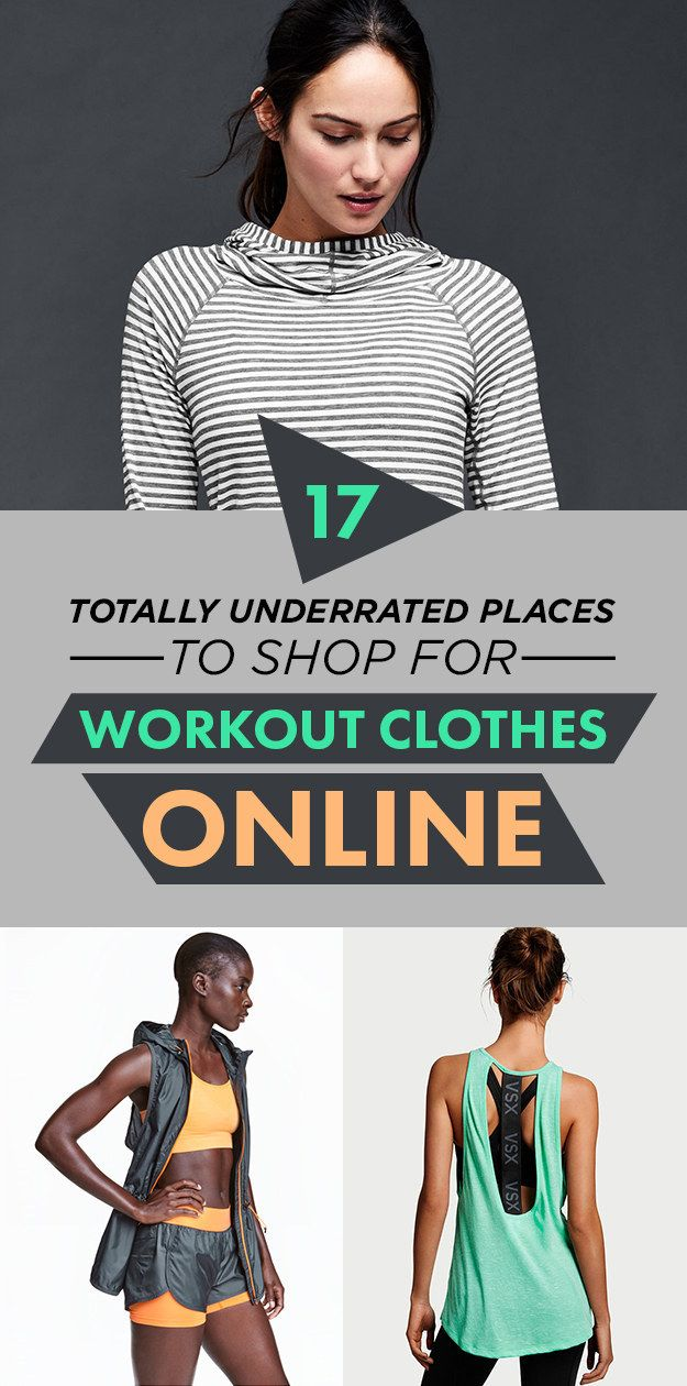 17 Totally Underrated Places To Shop For Workout Clothes Online