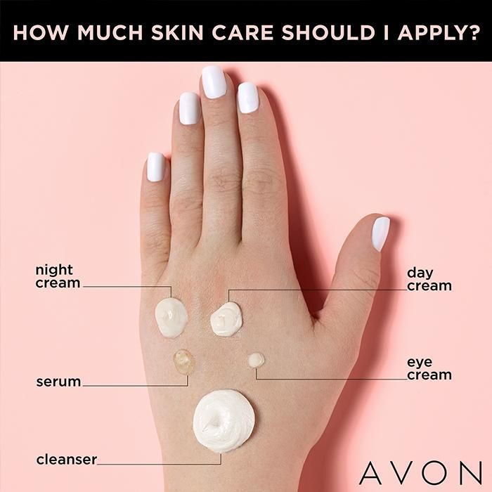 How Much Skincare Product To Use Save This Ultimate Guide Avon Skin Care Skin Care Paraben Free Products