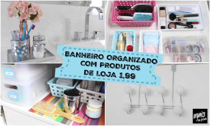 Você quer deixar o banheiro lindo, organizado e gastando pouco? Aqui vão alguns produtos TOP de lojas de utilidades pra casa (1,99) para organizar o banheiro e deixa-lo nos trinques.