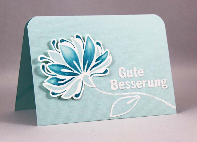 Simple monochromatic card with a lovely flower.