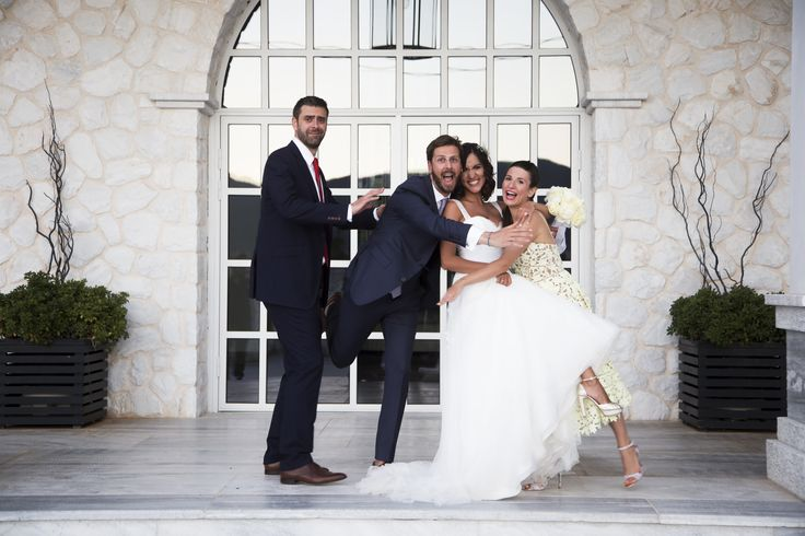 Best men... Best woman ... and the crazy couple <3  wedding photography  #andreouelena