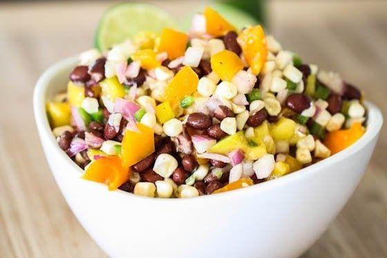 Zwarte bonen salade