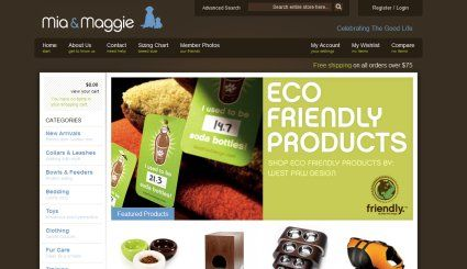 Mia & Maggie innovative #ecommercewebsite design by Techidea