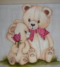pintura em fraldas bebe com ursinho - Pesquisa Google