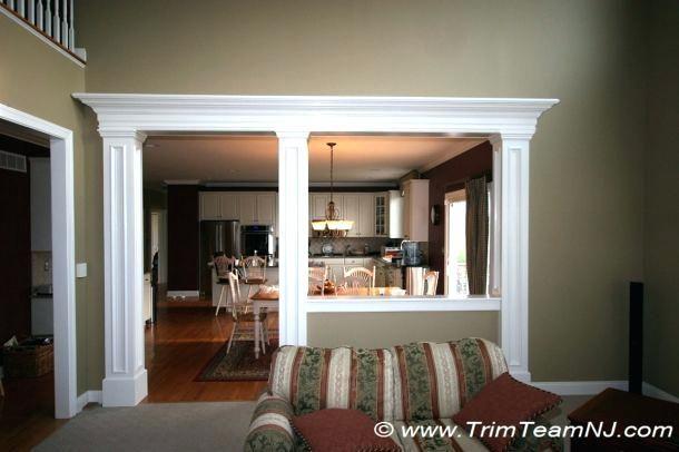 Half Wall Between Kitchen And Dining Room Idea How To Trim Half Wall Between Kitchen And Family Room Wa Open Kitchen And Living Room Room Remodeling Half Walls