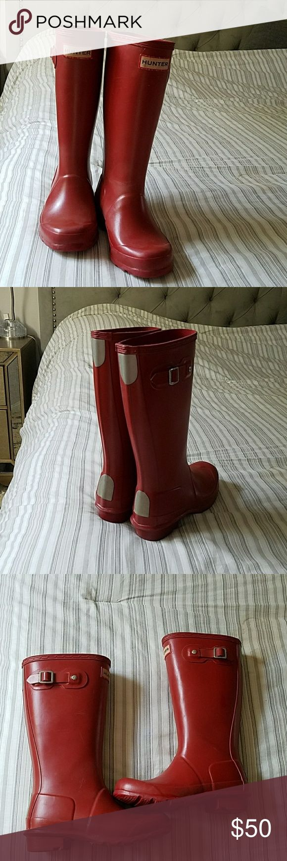Kids Hunter Red Boots Red Hunter Shoes Rain & Snow Boots