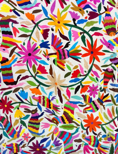 \Multicolour Mexican Suzanis. Cool background idea for kiddo wall art.