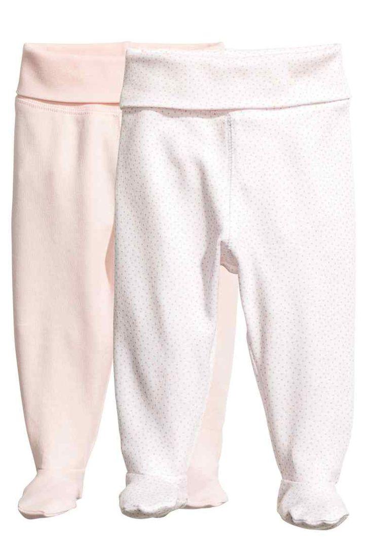 Pantaloni cu botoșei, 2 - Roz-pudrat - | H&M RO 1