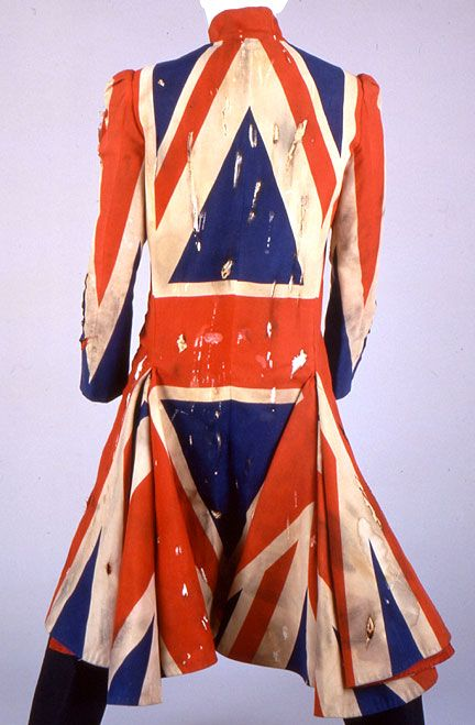 Distressed Union Jack made for David Bowie on the Earthling album tour, 1996-97.