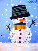 sneeuwpop met taartrand