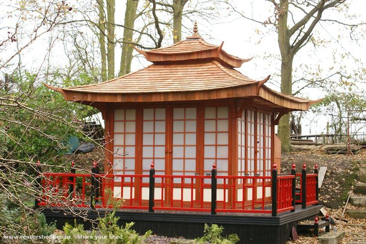 Japanese Tea House shed is an entrant for Shed of the year 2015 via @unclewilco  #shedoftheyear