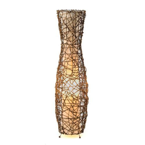 Fluted Rattan Floor Lamp | Kirklands