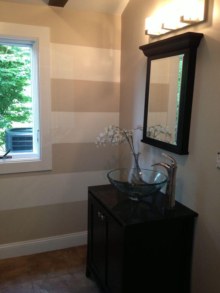 Benjamin Moore cedar key and white dove  Bathroom