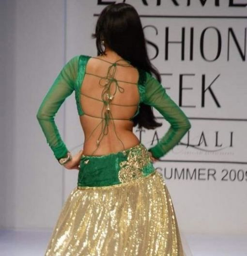 Shweta Bhardwaj in Brilliant Lehenga - Ghagra, with Backless Choli by Abdul Haldar http://www.abdulhalder.com/ -