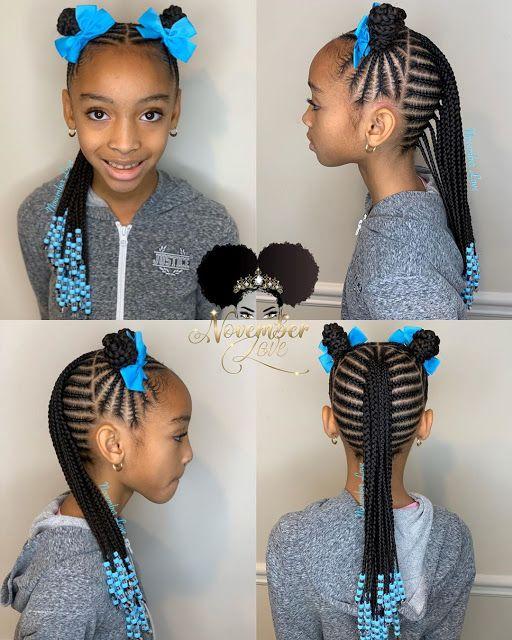 2019 2020 Hairstyles Gorgeous Christmas Braiding Styles For Kids Black Kids Braids Hairstyles Kids Braided Hairstyles Kids Braids With Beads