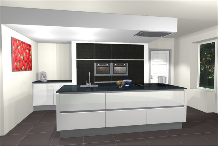 Ontwerp van keuken met kookeiland eiland keukens pinterest met and van - Nieuwe ontwerpmuur ...