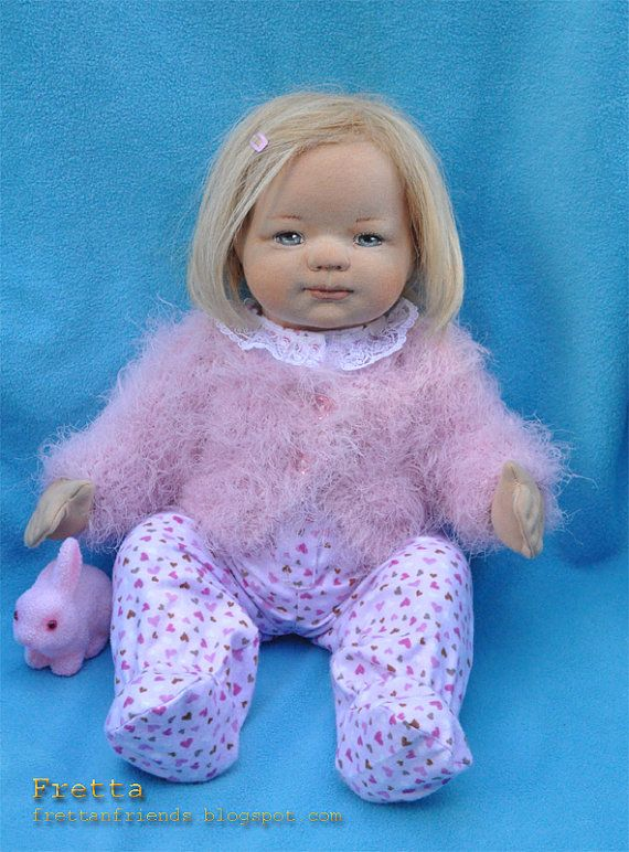 Fretta's OOAK Clay & Cloth Baby Doll, Soft Sculpted ...