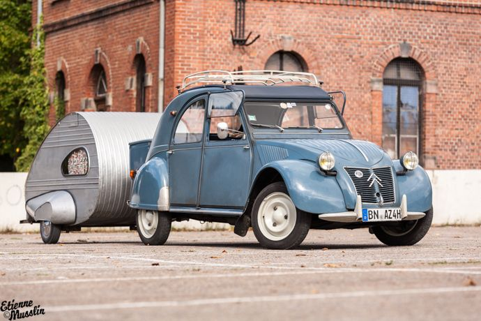 citroen: The cutest car and caravan ever #2CV #Citroen #vintage