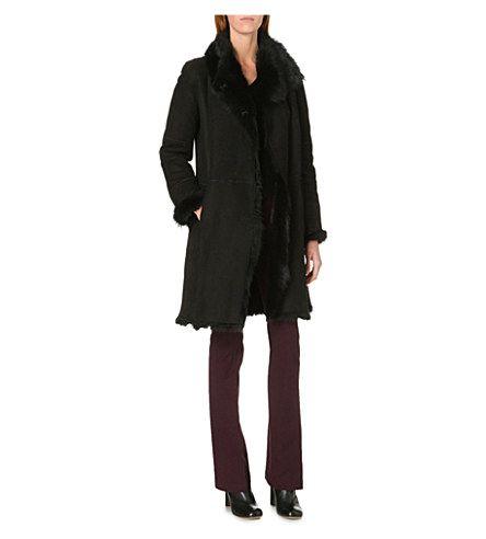 JOSEPH Anais Toscana lambskin coat (010 black