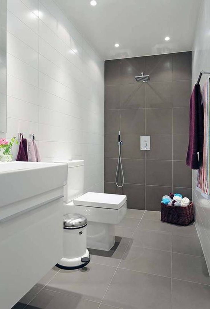 Lavishly Appointed Gray Small Bathroom Ideas With White Vanity Bath And Gray And White Wall Ceramic Panels In Minimalist Modern Small Bathroom Ideas
