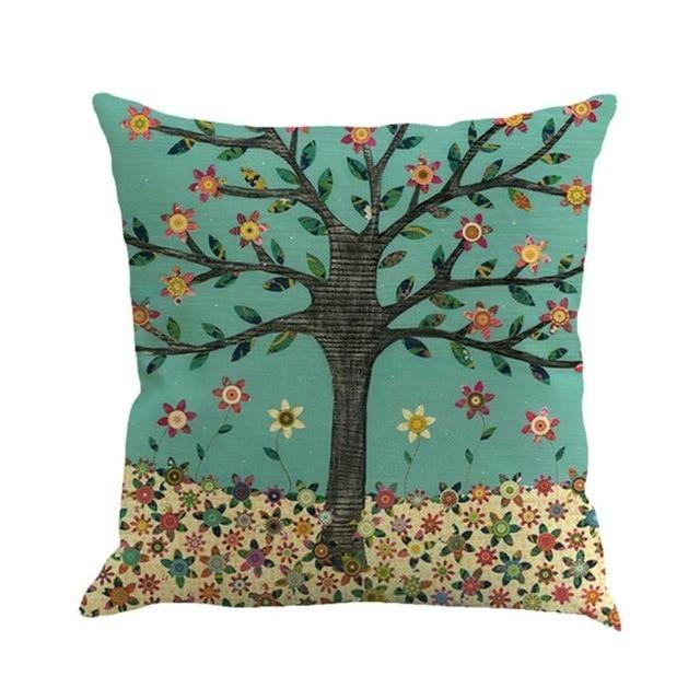 Cotton Linen Printing Pillow Case Throw Pillow Cover