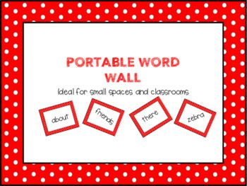 Are you tired of constantly being interrupted to spell words for students or making new personal dictionaries because your students have lost theirs? If this is the case then the Portable Word Wall is ideal for you! I originally created the Portable World Wall due to the fact that I was in a small classroom and I simply did not have the space to display my word wall the way I wanted to.