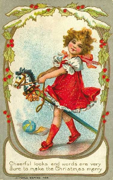 Vintage Christmas Card from Early in the 20th Century