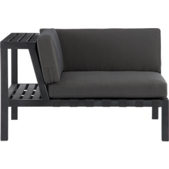 mini sofa with side table. CB2 #furniture #sofa #couch