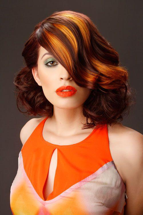 16 best Orange ombre on dark hair images on Pinterest