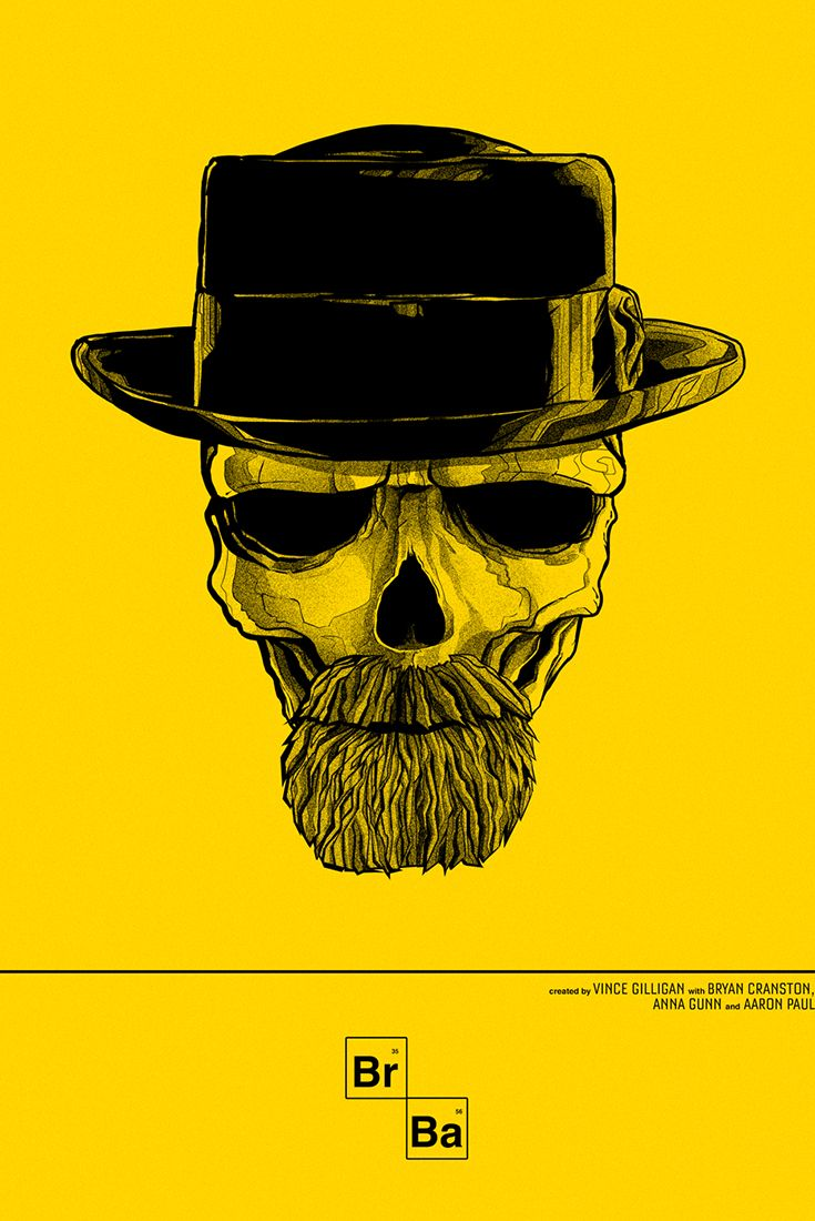 Breaking Bad - Unofficial print by Lisbon based Graphic Artist & Art Director Pedro B Maia   Drama, TV Series.
