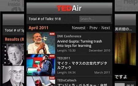 Android App TED Video diffondere Idee e Conoscenze