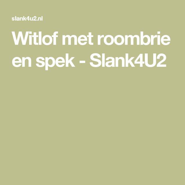Witlof met roombrie en spek - Slank4U2