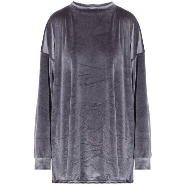 DASH My Mum Made It Velvet Sweater Dress featuring polyvore, women's fashion, clothing, dresses, long-sleeve velvet dresses, t-shirt dresses, longsleeve dress, long sleeve tee shirt dress and tee shirt dress