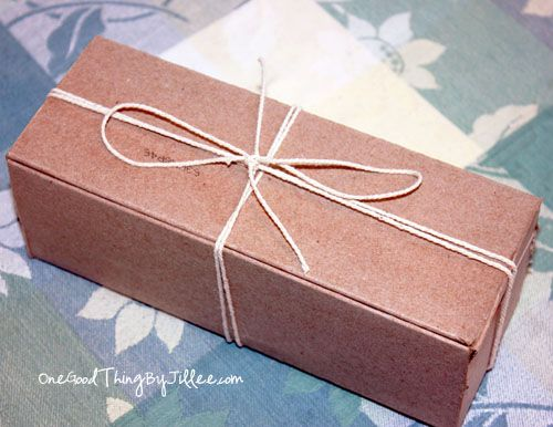 How to make a gift box from an old cereal box